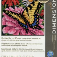 Dimensions Butterfly on Zinnia